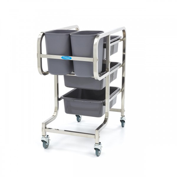 Maxima Stainless Steel Cleaning Trolley Including ...