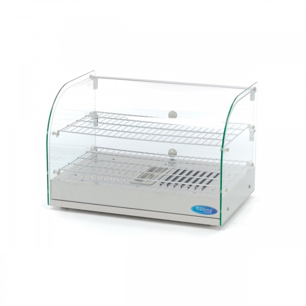 Maxima Stainless Steel Hot Display - 2 Levels - 55...