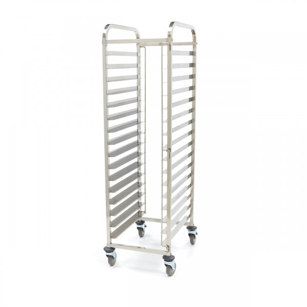 Maxima Stainless Steel Tray Trolley Bakerynorm 16 ...