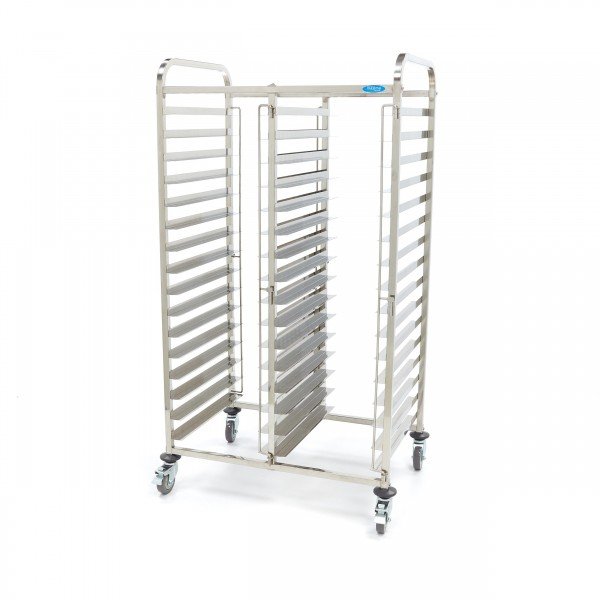 Maxima Stainless Steel Tray Trolley Bakerynorm 32 ...