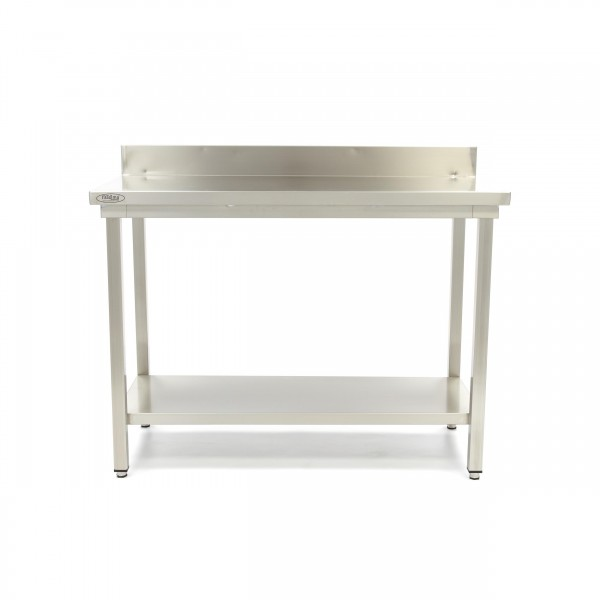 Maxima Stainless Steel Workbench 'Deluxe' with bac...