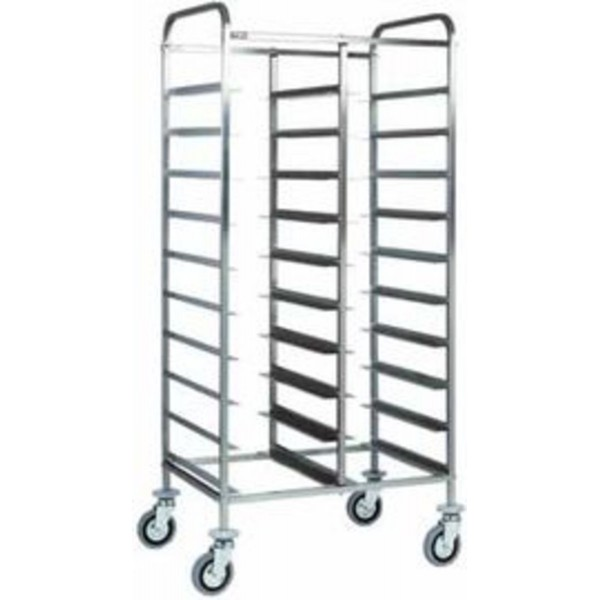 Forcar Stainless Steel Tray Trolley 20 x 1/1 GN -C...