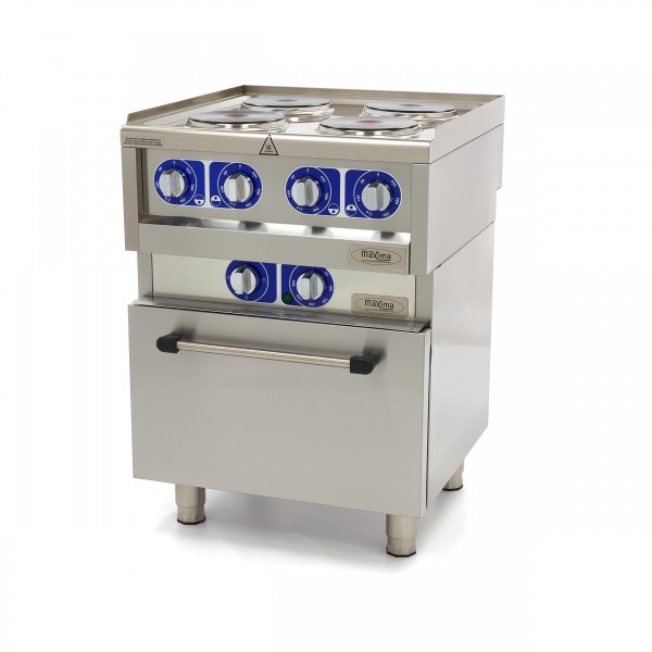 Maxima 600 Electric 4 Plates With Oven 60 X 60 CM