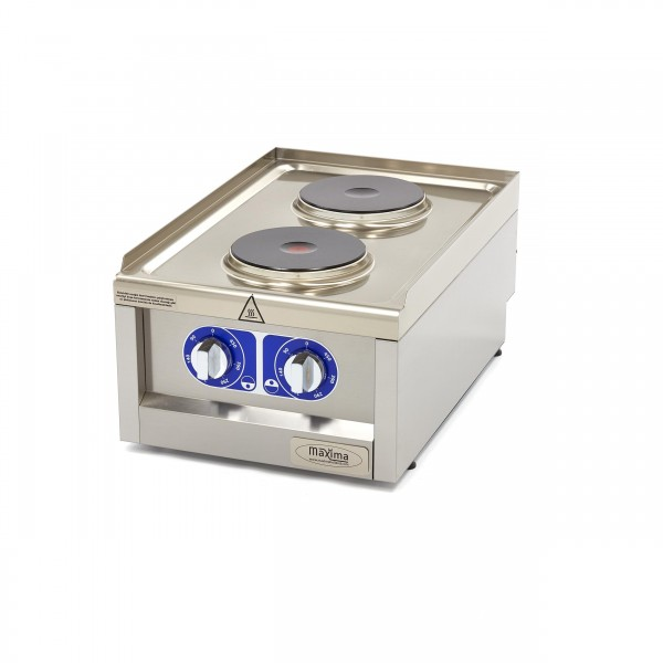 Maxima 600 Electric Cooker 2 Plates 40 X 60 CM