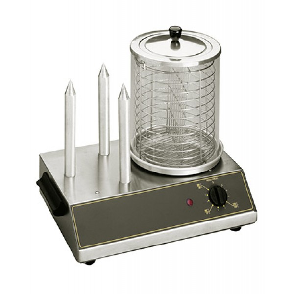 Roller Grill Professional Hot Dog Machine With 3 H...