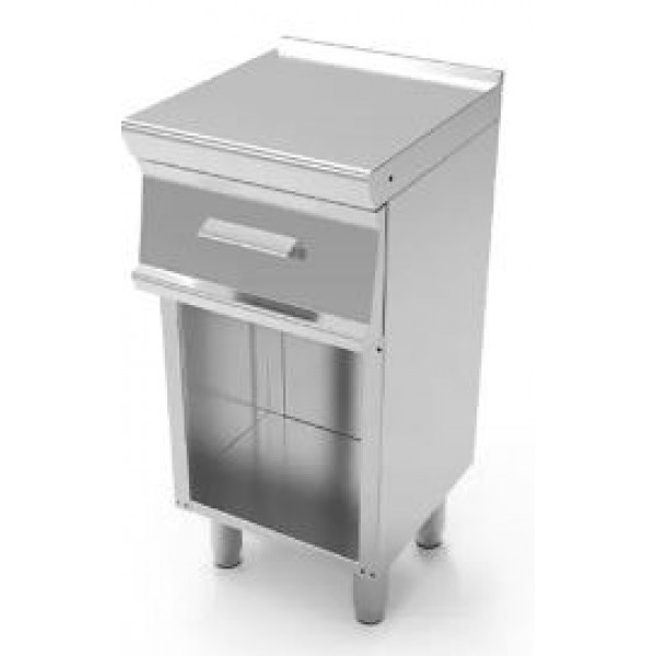 Tecnoinox Work Top On Open Cabinet - With 1 Drawer...