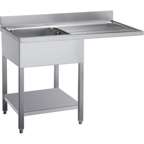 Angelo Po Open Sink 1 Bowl Right Drainer-E12L15DL