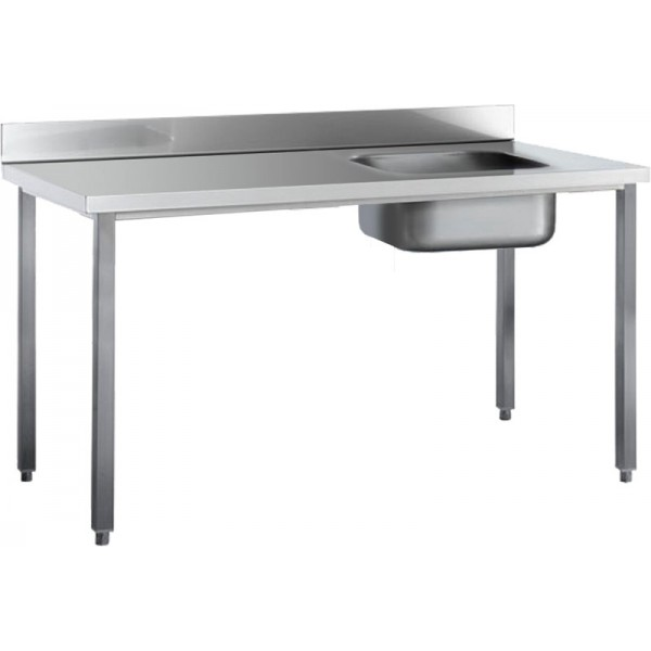 Angelo Po Table With Rear Splashback Right Bowl 12...